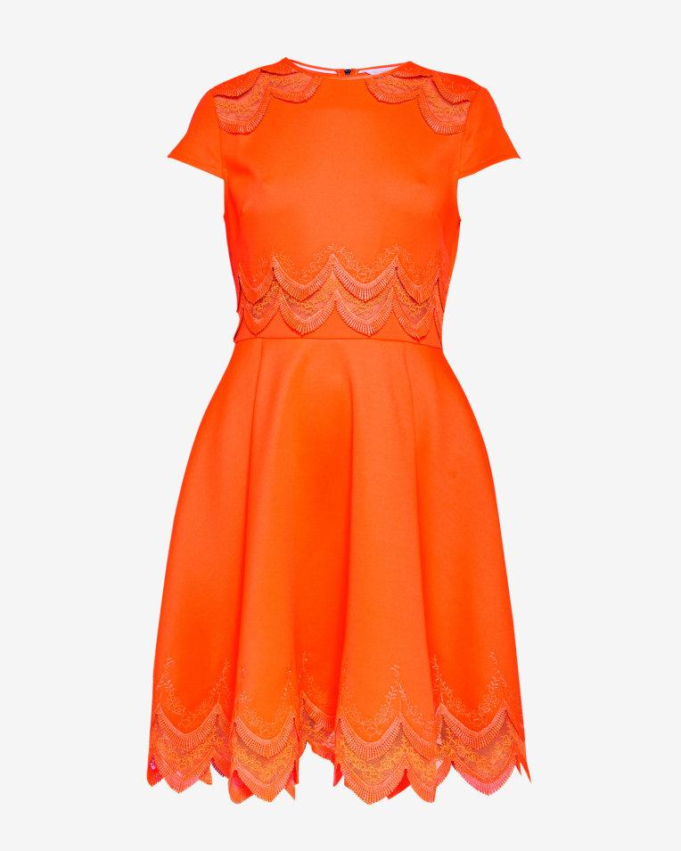solid colour dress